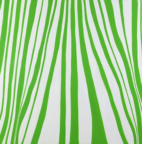 Angela Brennan Cadmium Green Pale, 2005; oil on linen; 180 x 180 cm; enquire