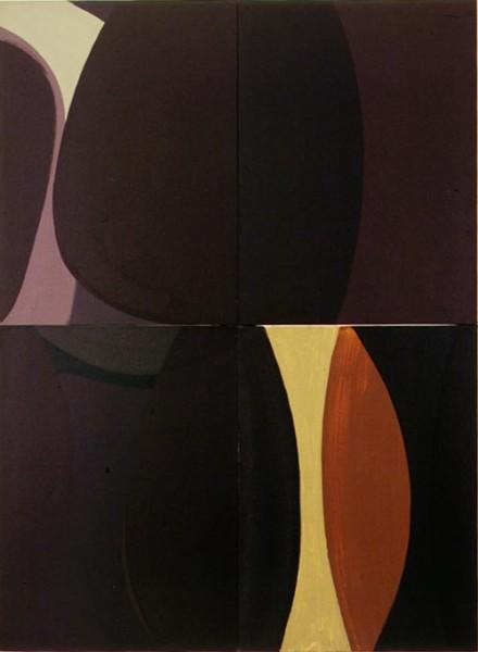 Tony Clark Lontano XX, 2000; from the series Lontano; Acrylic on canvas board; 122 x 91.5 cm; 4 panels; enquire