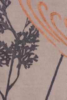 Caroline Rothwell Arrangement for The Galapagos (Gymnogramma chaerophylla, after Darwin) (detail), 2018; Belgian linen, graphite, copper, hydrostone, gesso; 107 x 107 cm; Enquire