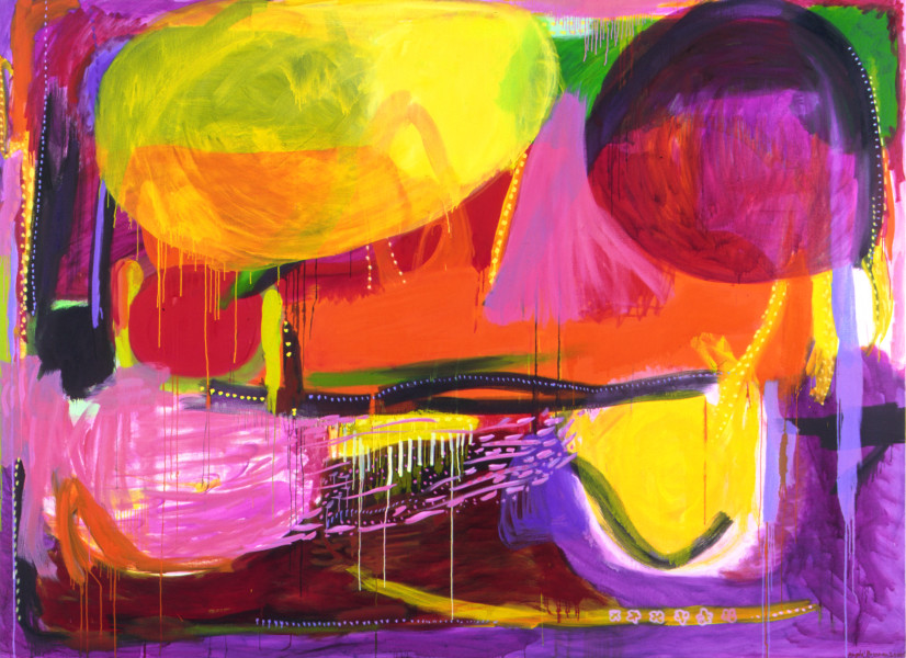 Angela Brennan Found Landscape II, 2002; Oil on linen; 199 x 275 cm; enquire