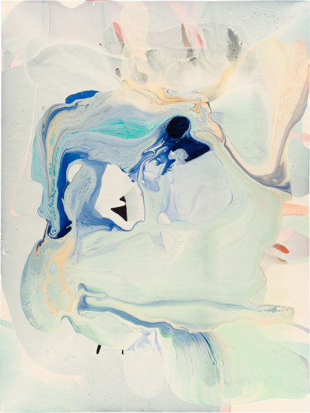 Dale Frank 29. Most of the people he only loved now were either on television, or looked good on television., 2009; varnish on canvas; 160 x 120 cm; enquire