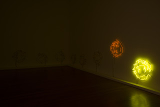 Marley Dawson Untitled (Neon Tumbleweed – Voltarc 11370), 2013; neon and electrics, eight parts; 65 x 66 cm (each), 146 x 872 cm (overall); enquire