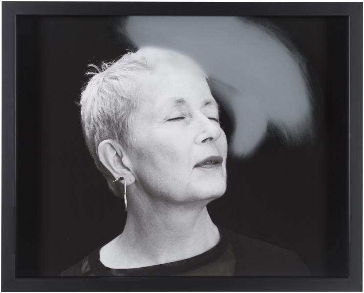 Julie Rrap Blow Back #25, 2018; digital print and handground glass; 52 x 64 cm; Edition of 3 + AP 1; enquire