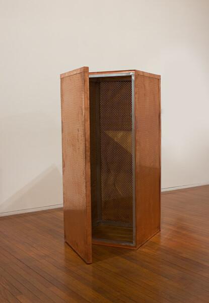 Katie Williams Conductor, 2012; copper, aluminium; 201 x 90.1 x 93 cm; enquire