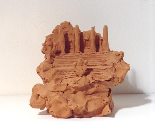 Linda Marrinon Parliament House, Melbourne, 1998; from the series Sculpture For The Home; Terracotta; 16 x 18 x 13 cm; enquire