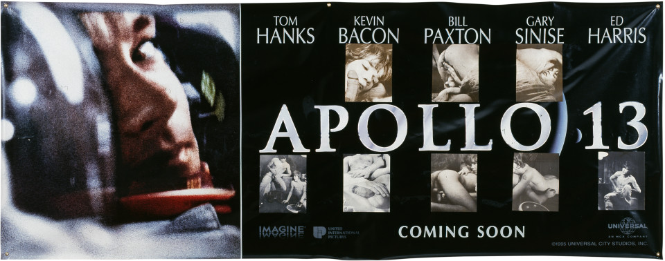 Dale Frank Apollo 13, 1997; paper on printed vinyl; 119 x 306 cm; enquire