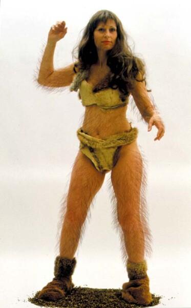 Julie Rrap Camouflage # 2 (Raquel), 2000; photograph mounted on lexcen; 195 x 122 cm; Edition of 9; enquire