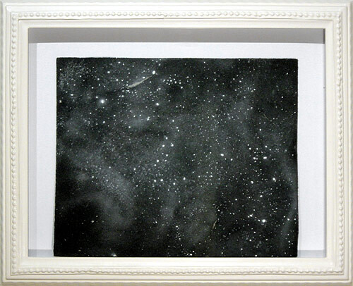 Hany Armanious Wall rubbing # 9, 2003; clogged sandpaper; 23 x 28 cm; (paper size) 34 x 41.5 cm (frame size); enquire