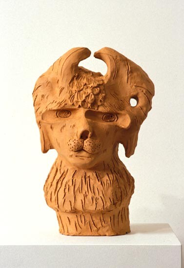 Linda Marrinon Bust of a Lion, 1994; terracotta; 33 cms high; enquire