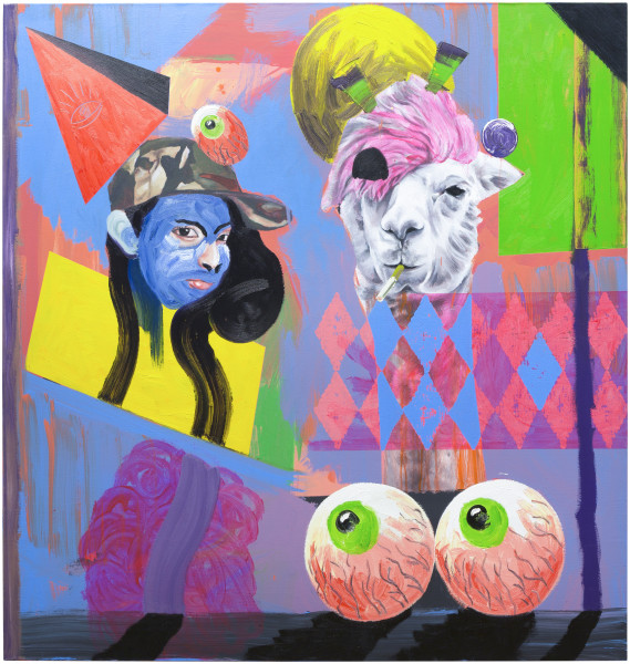 David Griggs Wendy and Joseph, 2016; acrylic and oil on canvas; 152 x 144.5 cm; enquire
