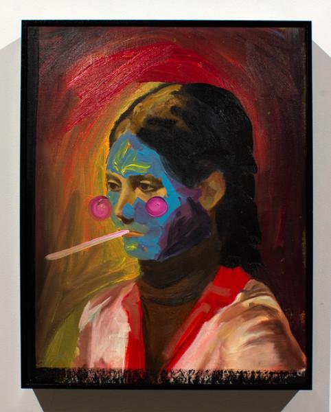 David Griggs Potato Chick, 2012; oil on canvas; 47 x 37 cm; enquire