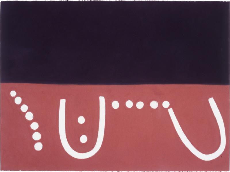 Fiona Foley Gunabibi 1, 1988; pastel on paper; 56.5 x 76.5 cm; enquire