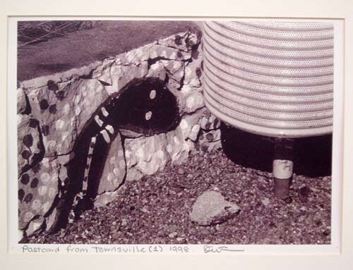 Destiny Deacon Postcard from Townsville (1), 1998; black & white laser print; 21.2 x 29.7 cm; Edition of 15; enquire
