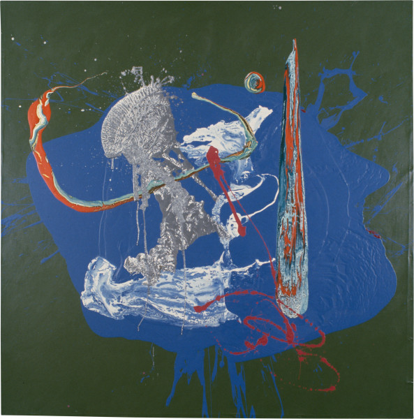 Dale Frank I'll Tumble 4 Ya, 1996; acrylic, enamel, aluminium on linen; 200 x 200 cm; enquire