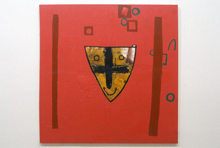 Gareth Sansom Shield II, 1990; mixed media on linen; 137 x 137 cm; enquire