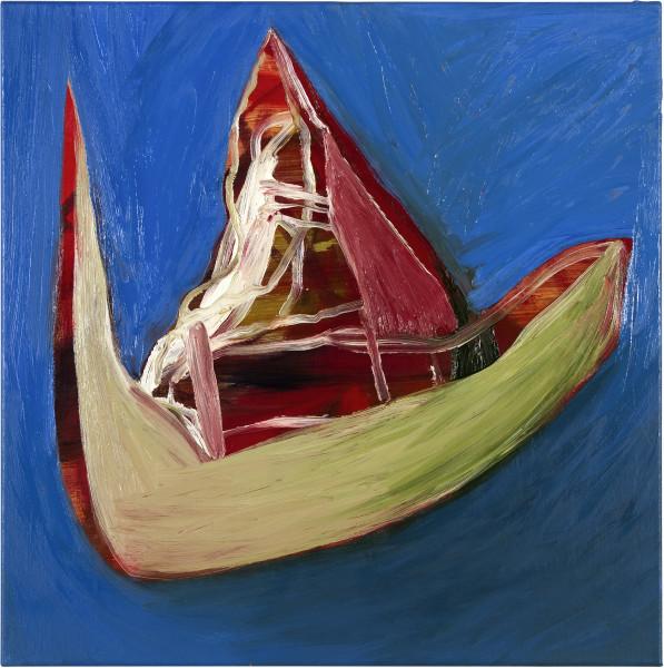 Gareth Sansom Don't Look Now (Nicholas Roeg), 2012; oil and enamel on linen; 60 x 60 cm; enquire