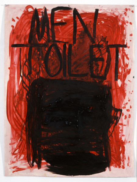Linda Marrinon Men Toilet, 1988; oil on paper; 101.5 x 76 cm; enquire