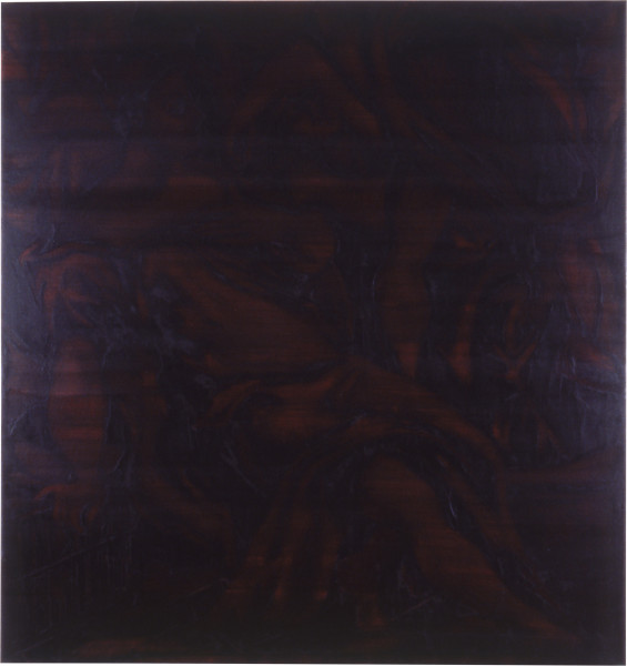 Lindy Lee The Vision and the Riddle, 1987; oils and wax on canvas; 139 x 131 cm; enquire