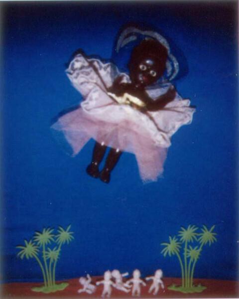 Destiny Deacon Waiting For Goddess D, 1993-03; Light jet print from Polaroid original; 75 x 62 cm; 60 x 48 cm (image size); Edition of 15 + 2 APs; enquire