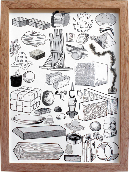 Teppei Kaneuji Games, Dance and the Constructions (Building Materials) #3, 2011; collage on photograph; 26.5 x 20 cm; enquire