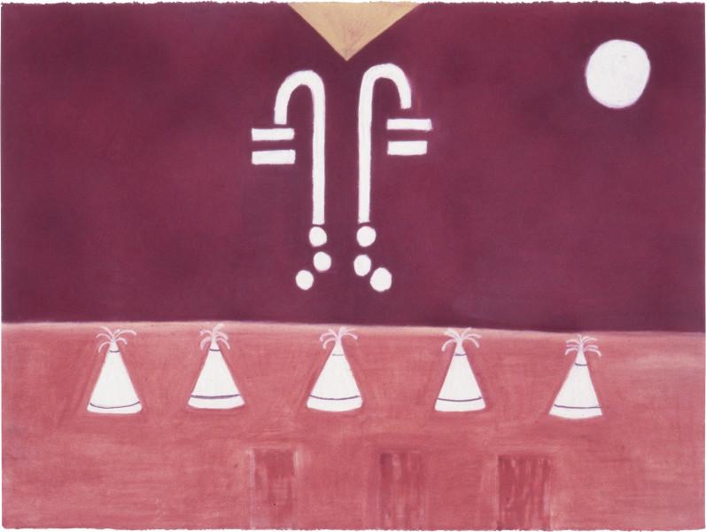Fiona Foley Expo 88, 1988; pastel on paper; 56.5 x 76.5 cm; enquire