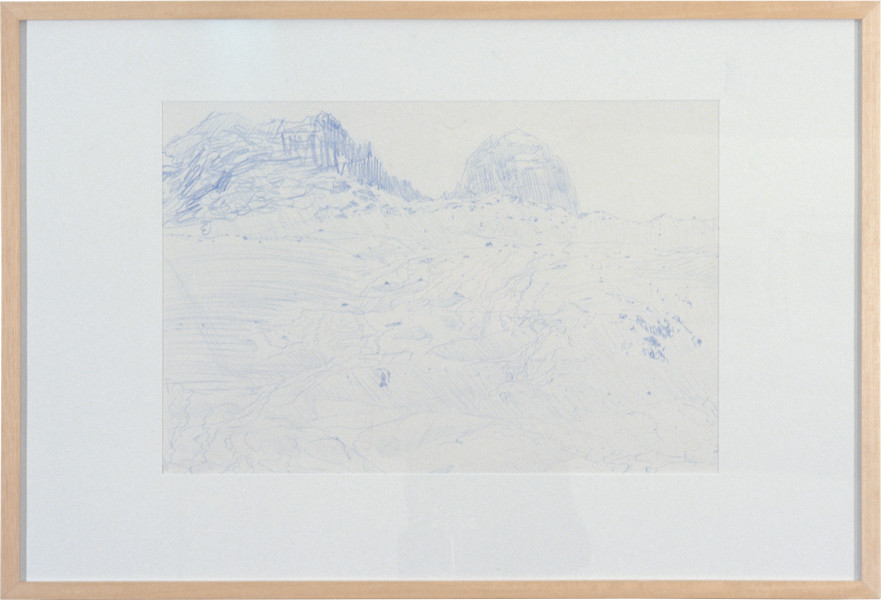 Peter Doig Mountain Drawing, 1996; crayon on paper; approx. 62 x 91 cm; enquire