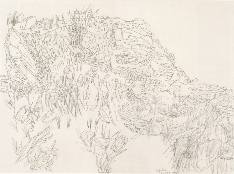 Geoff Lowe Whipstick, 1983; pencil on paper; 62 x 82 cm; enquire