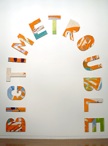 Agatha Gothe-Snape Big Time Trouble, 2008; sawn paintings; 14 pieces; dimensions variable; enquire