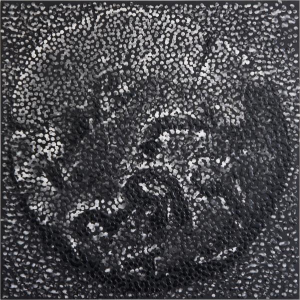 Daniel Boyd Untitled (KC)2, 2014; oil, archival glue & digital print on board; 50 x 50 cm; enquire