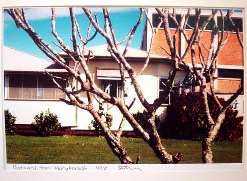 Destiny Deacon Postcard from Maryborough, 1998; colour laser print; 29.7 x 42.2 cm; Edition of 15; enquire