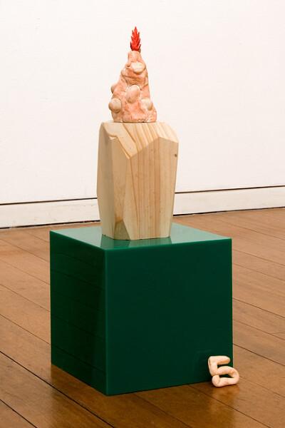 Mikala Dwyer 5, 2009; molding clay, stones, sequins, wood, acrylic; 48 x 18 x 18 cm; enquire
