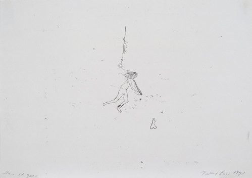 Tracey Emin There it goes, 1998; black ink on paper; 42 x 60 cm; enquire
