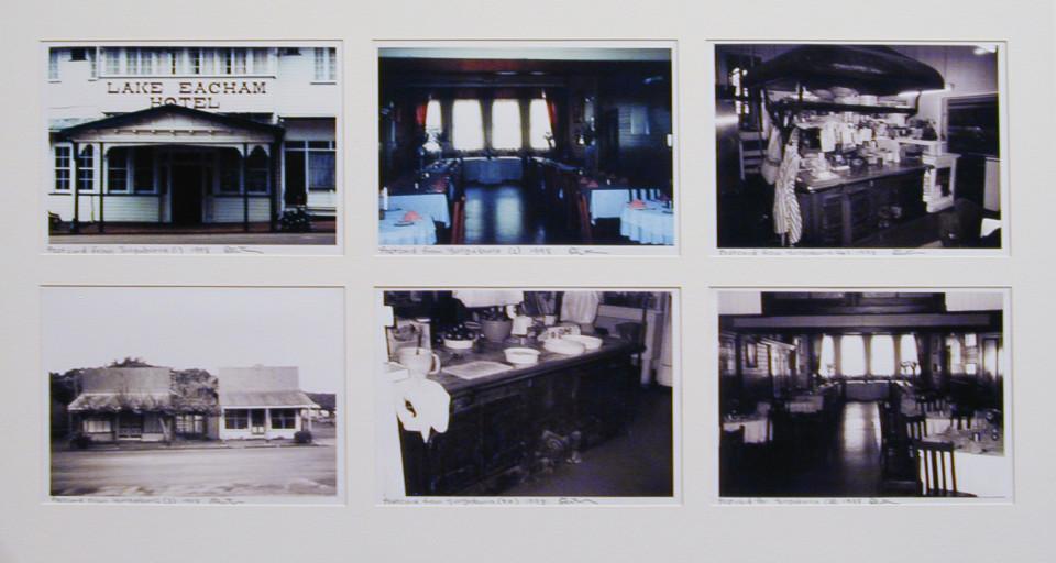 Destiny Deacon Postcard from Yungaburra (1) (2) (2a) (3) (4) (4a), 1998; 6 colour laser prints; 20.1 x 29.7 cm; Edition of 30; enquire