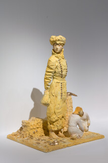 Linda Marrinon Woman and children, Albert, France, 1916, 2018; plaster, distemper, watercolour, gouache; 65 x 49 x 41 cm; enquire