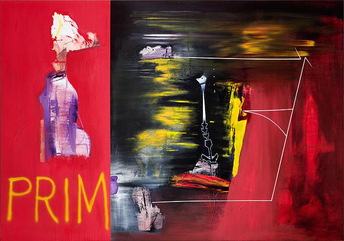 Gareth Sansom Prim, 2009; oil and enamel on linen; 155 x 244 cm; enquire