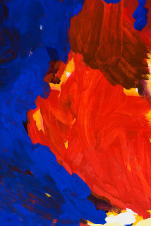 Tom Polo an end to beginnings (detail), 2021; acrylic and Flashe on canvas; 213 x 198 cm; enquire