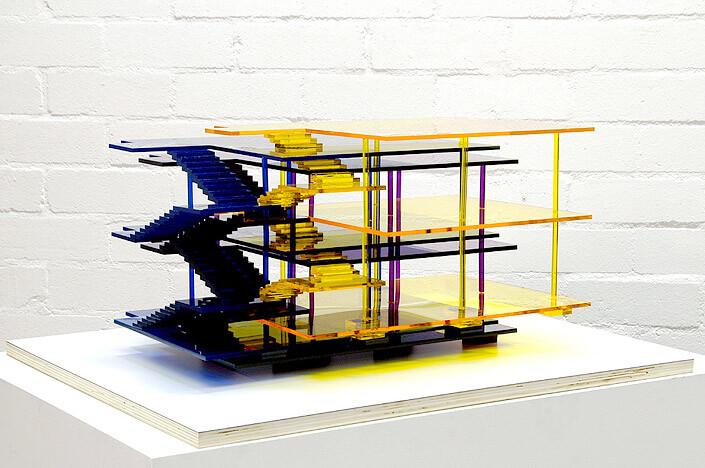 James Angus Dom-Ino Colour Separation, 2007; acrylic; 33 x 75 x 60 cm; enquire
