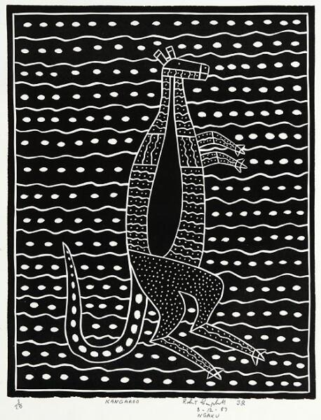 Robert Campbell Jnr Kangaroo, 1987; lino cut; 39 x 30.5 cm; AP 2/2; enquire