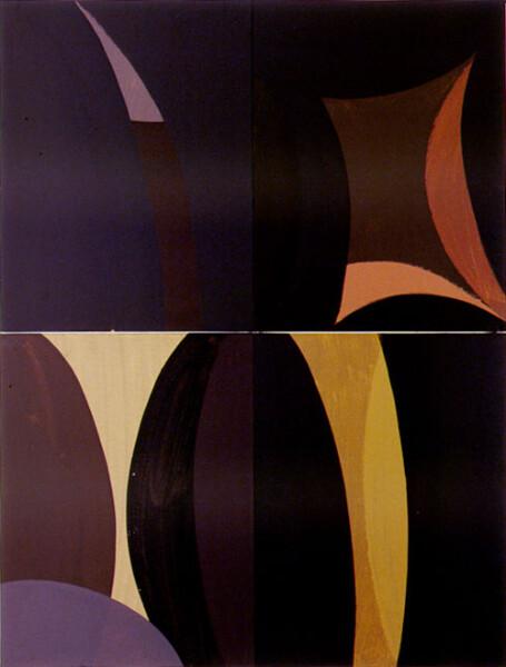 Tony Clark Lontano XXIV, 2000; from the series Lontano; Acrylic on canvas board; 122 x 91.5 cm; 4 panels; enquire