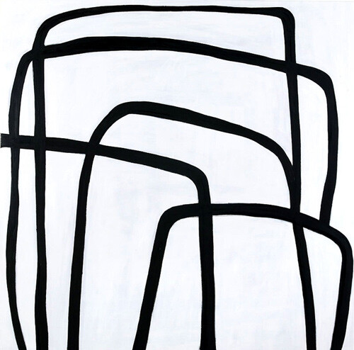 Angela Brennan Mars Black, 2005; oil on linen; 180 x 180 cm; enquire