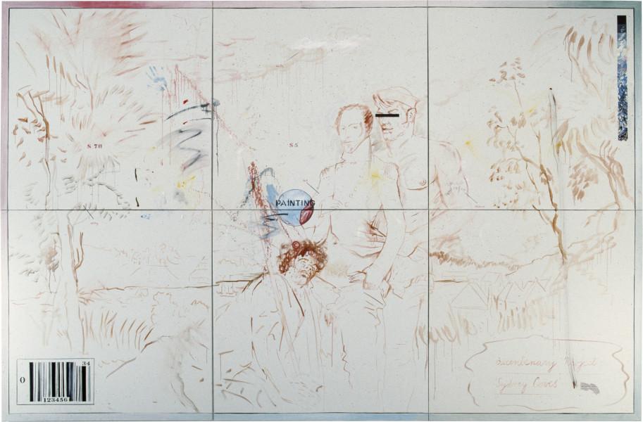 Juan Davila Semblance, 1985; oil on canvas; 274 x 411 cm; enquire