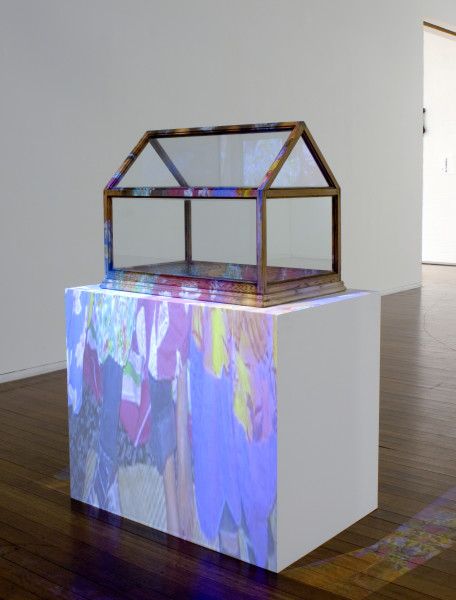 Destiny Deacon and Virginia Fraser Glass House and Island Flicks, 2011; mixed media, digital video; 59 x 73 x 47 cm (sculpture); enquire