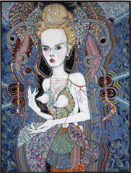 Del Kathryn Barton that is its nature, 2013; synthetic polymer paint and gouache on polyester canvas; 243 x 183 cm; enquire