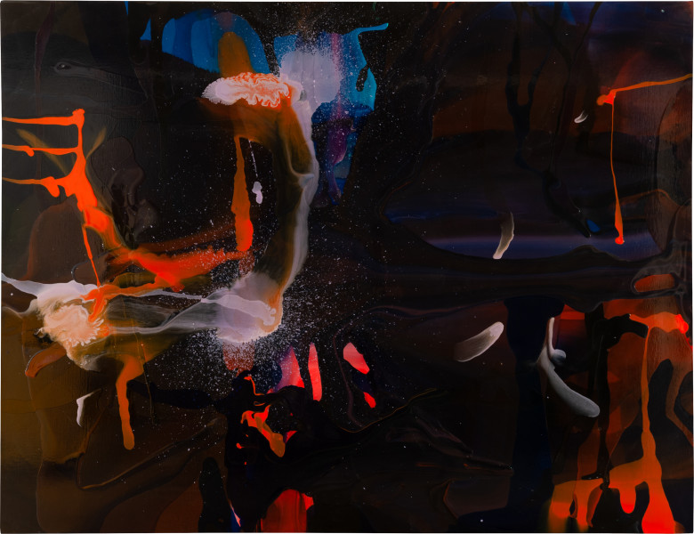 Dale Frank He had done everything that had been expected of him throughout his earlier years. Now approaching something else, the continuation was comforting to know, if not for him if he dared admit anything contrary., 2009; varnish on canvas; 200 x 260 cm; enquire