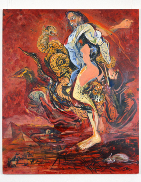Victor Rubin Lest We Forget… the power of a viper, 1989; oil on primed linen; 199 x 167.5 cm; enquire