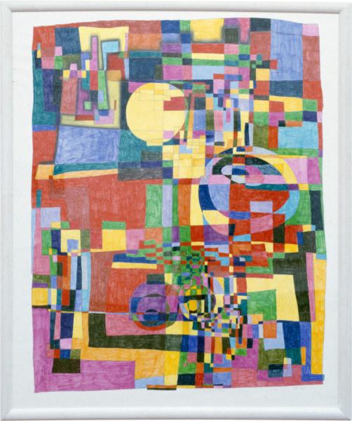 Dale Frank YELWORC RETSIELA, 1992; ink, pencil & mixed media on paper; 189 x 160 cm; enquire