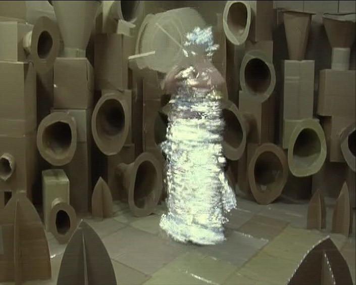 Justene Williams FEMMZOIL speaker (still), 0; Mini DV transferred to DVD, sound; 4 mins; enquire