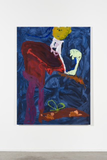 installation view; Tom Polo the edge of envy, 2021; acrylic and Flashe on canvas; 182 x 138 cm; enquire