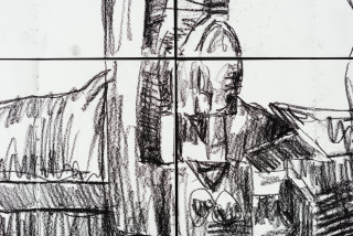Pierre Mukeba Silent Was The Dog (detail), 2021; charcoal on archival paper; 120 x 126 cm; enquire