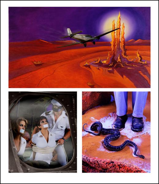 Tracey Moffatt Adventure Series 1, 2004; colour print on Fujiflex paper; 132 x 114 cm; Edition of 25; enquire